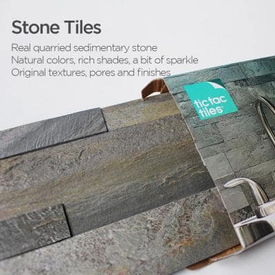 12-Sheets Tropical Brown 24 in. x 6 in. Peel Stick Self-Adhesive Decorative 3D Stone Tile Backsplash [11.6 sq. ft./pack]