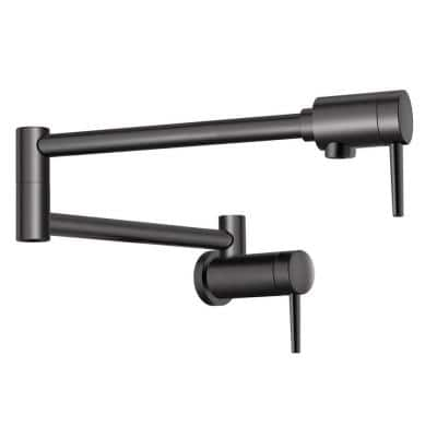 Contemporary Wall Mounted Potfiller in Matte Black
