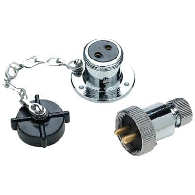 Deck Connector With Brass Double Contacts