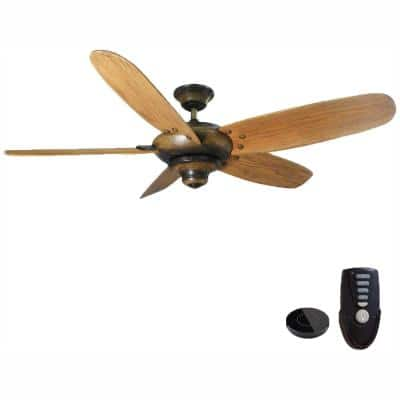 Altura 56 in. Gilded Espresso Ceiling Fan Works with Google Assistant and Alexa
