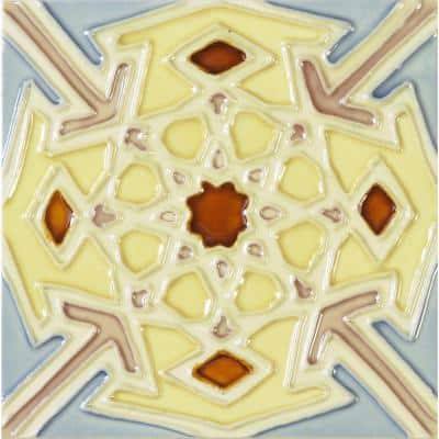 Hand-Painted Ceramic Carnaval 6 in. x 6 in. x 6.35 mm Glazed Ceramic Wall Tile (2.5 sq. ft. / case)