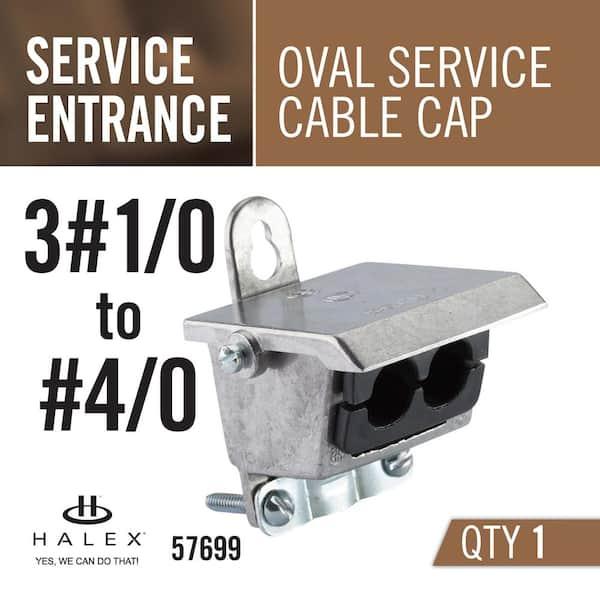 Halex 3 1 0 4 0 Service Entrance Se Oval Service Cable Cap 57699 The Home Depot