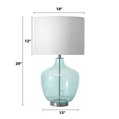 Sandy 29 in. Blue Coastal Table Lamp with Shade