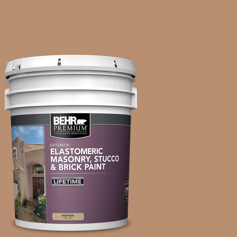 5 gal. #S230-5 Sugar Maple Elastomeric Masonry, Stucco and Brick Exterior Paint