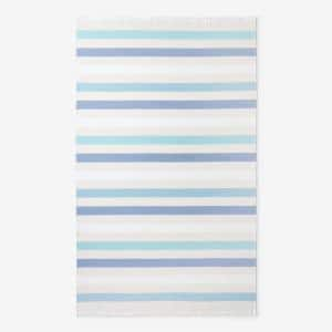 Hammam Blue Striped Cotton Single Beach Towel