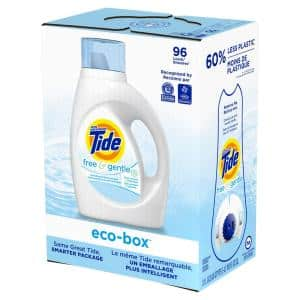 105 oz Eco Box HE Free & Gentle Liquid Laundry Detergent (96 Loads)