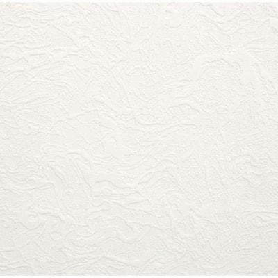 Swirl White Vinyl Peelable Wallpaper (Covers 56 sq. ft.)