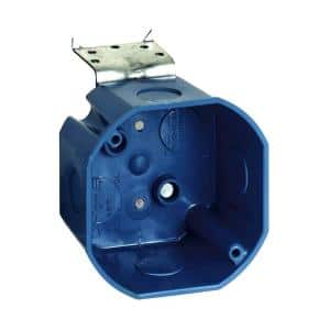 4 in. New Work Octagon Ceiling Electrical Box with L-Bracket (Case of 8)