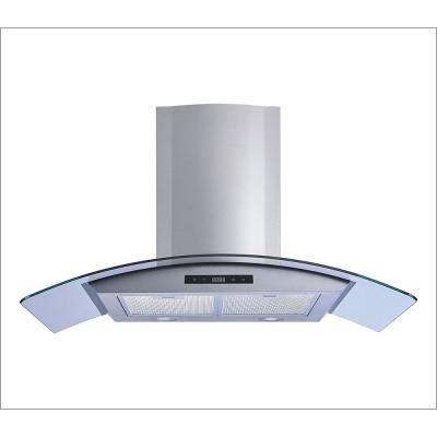 30 in. 520 CFM Convertible Stainless Steel/Glass Wall Mount Range Hood with Mesh Filters and Touch Sensor Control
