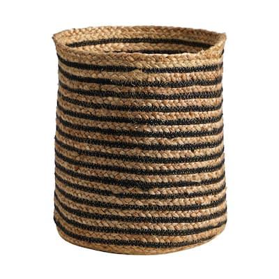 13.5 in. Natural Handmade Jute Basket Planter