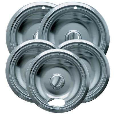 6 in. 3-Small and 8 in. 2-Large Drip Bowl Plated (5-Pack)
