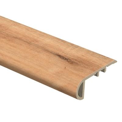 Fresh Oak/Elk Wood 1 in. Thick x 2-1/2 in. Wide x 94 in. Length Vinyl Stair Nose Molding
