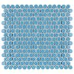 Hudson Penny Round Light Blue 12 in. x 12-5/8 in. x 5 mm Porcelain Mosaic Tile (10.74 sq. ft. / case)