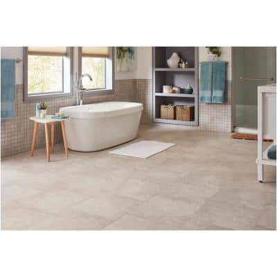 Portland Stone Gray 18 in. x 18 in. Glazed Ceramic Floor and Wall Tile (348.8 sq. ft. / pallet)