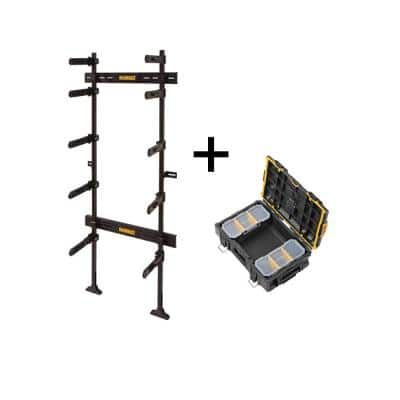 TOUGHSYSTEM 25-1/2 in. Workshop Racking Storage System with Bonus TOUGHSYSTEM 2.0 22 in. Small Tool Box