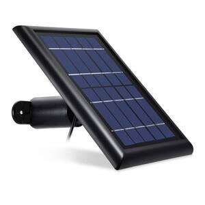 Solar Panel Compatible with Arlo Pro and Arlo Pro 2 - Power Your Arlo Surveillance Camera Continuously (Black)