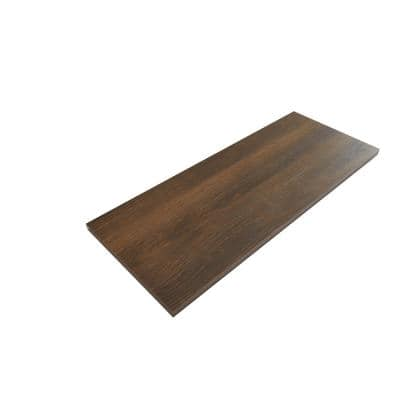Chestnut Oak Laminated Wood Wall Mounted Shelf 12 in. D x 72 in. L