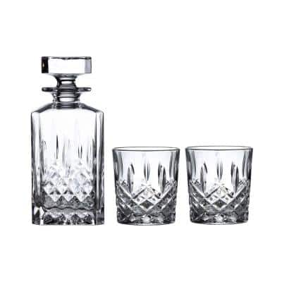 Markham 30 fl oz. Crystal Decanter and Double Old Fashioned Set (Set of 3)