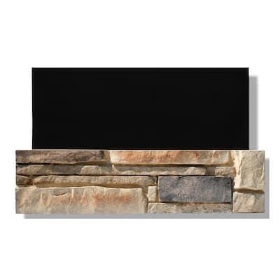 6 in. x 24 in. Stone Veneer Ledgestone Flat Panel Dakota Sunset (Box of 8)
