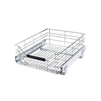 14 in W x 17.75 in D, Pull-Out Sliding Steel Wire Cabinet Organizer Drawer