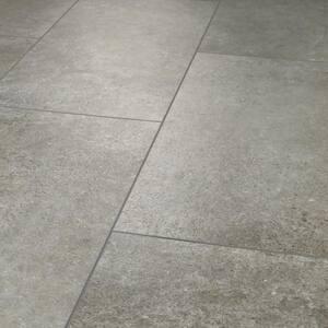 Vista 12 in. W x 24 in. L Atlantic Grey Click Lock Vinyl Tile Flooring (15.83 sq.ft./case)