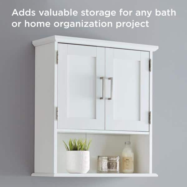 Glacier Bay Shaker Style 23 In W Wall, Wall Storage Units Home Depot