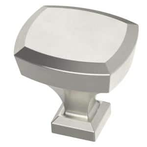 Beveled 1-1/4 in. (32mm) Satin Nickel Cabinet Knob