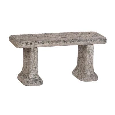 Old World Concrete Garden Bench