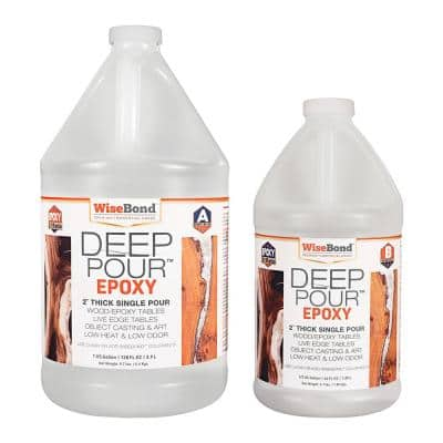 1.5 gal. Clear Deep Pour 2 in. Thick Single Pour 2:1 Ratio River Table Epoxy (Kit)
