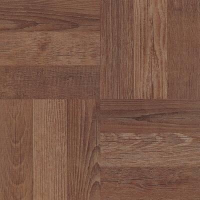 Parquet 12 in. W x 12 in. L Peel and Stick Floor Vinyl Tiles (20 Tiles, 20 sq. ft. case)