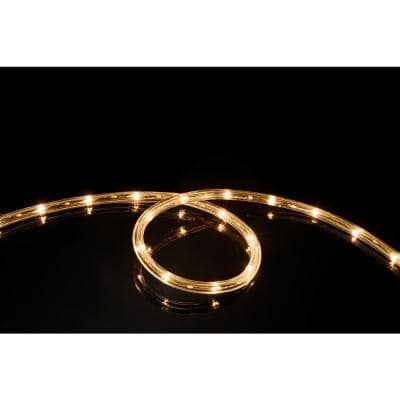 16 ft. Soft White All Occasion Indoor Outdoor 1/4 in. LED Rope Light 360Directional Shine Decoration (2-Pack)
