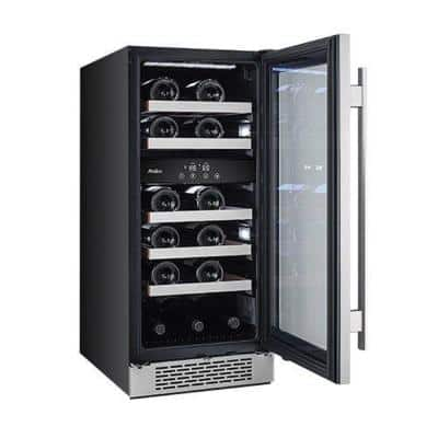 23-Bottle 15 in. Dual Zone Built-in Wine Cooler with Argon Filled Double Paned Glass