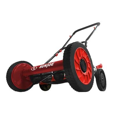 16 in. Manual Walk-Behind Reel Mower in Red (Factory Refurbished)