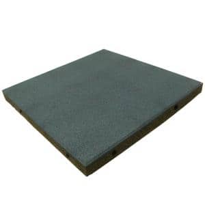 Eco-Safety 2.5 in. T x 19.5 in. W x 19.5 in. L Blue Rubber Interlocking Flooring Tiles (105.6 sq. ft.) (40-Pack) (1-EA)