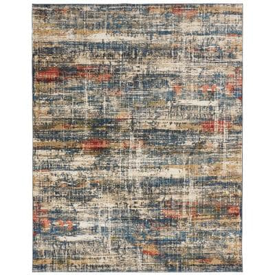 Blues and Multi 9 ft. x 12 ft. Area Rug