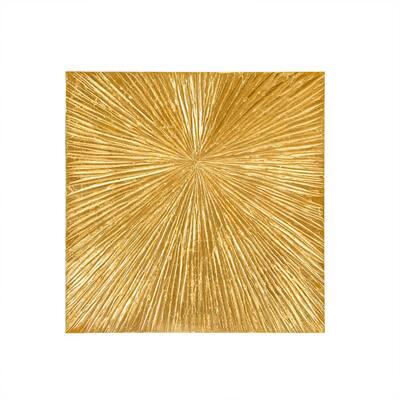 Sunburst Gold Resin Dimensional Palm Box