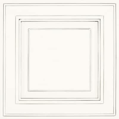 Savannah 14 9/16 x 14 1/2 in. Cabinet Door Sample in Pewter Glaze