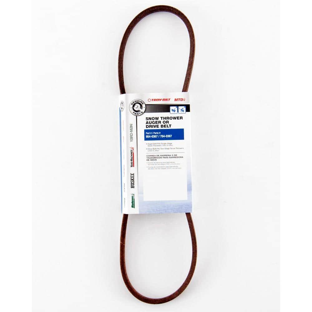 MTD Genuine Factory Parts Single-Stage Snow Blower Auger Belt OEM-754-0367