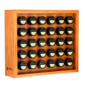Espresso Wood Spice Rack with 30 Jars