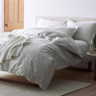 Baby's Breath Botanical Organic Cotton Percale Duvet Cover