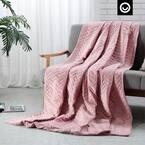 "Fabumi Weighted Blanket 15 Pound 48""x72"", Blush"