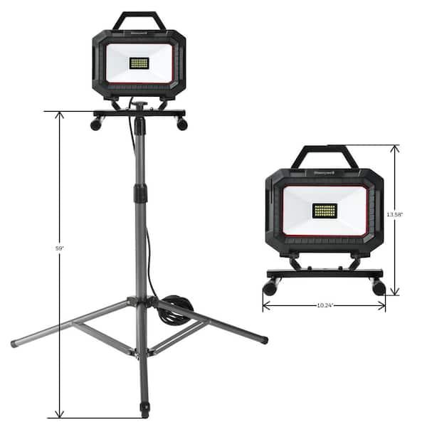 Honeywell 5000 Lumen Dual Head Worklight with Telescoping Tripod