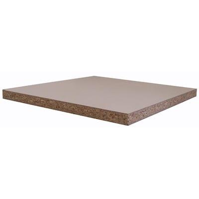 White Melamine Wood Shelf 24 in. D x 48 in. L