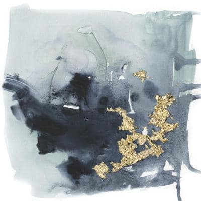 """54 in. x 54 in. """"Cerulean & Gold I"""" by Victoria Borges Canvas Wall Art"""