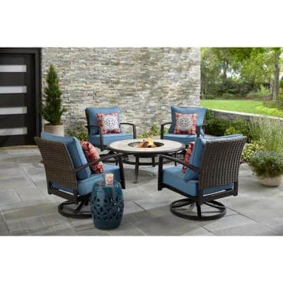 Fire Pit Patio Sets Outdoor Lounge Furniture The Home Depot