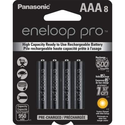 eneloop pro AAA High Capacity Ni-MH Rechargeable Batteries (8-Pack)
