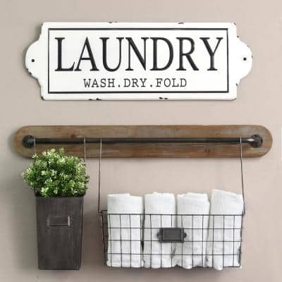 Metal Laundry Wall Decor