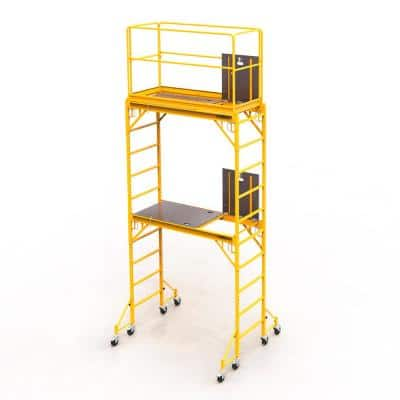 Safeclimb Baker Style 12 ft. x 6.1 ft. x 2.5 ft. Steel Scaffold Tower with 1000 lbs. Load Capacity