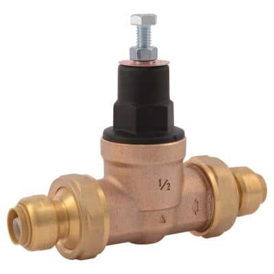 1/2 in. Push-to-Connect Bronze EB-45 Double Union Pressure Regulating Valve