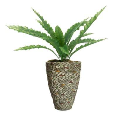 45.5 in. Real Touch Agave in Fiberstone Planter